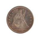 1873 Twenty Five Cent Liberty Seated/Arrows Silver Coin