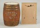 Diminutive Liberty Root Beer Oak Barrel, 5 Cent
