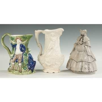 Whieldon, English & Stoneware Pitchers