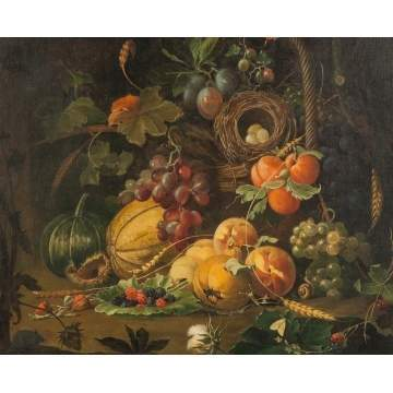 Still life with Fruit and Bird's Nest