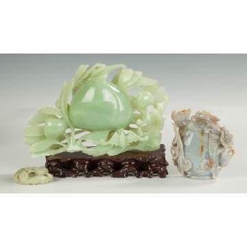 Chinese Carved Jade & Agate