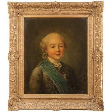 "Attr. to Charles-Andre Van Loo (French, 1705-1765) ""Le Comte de Provence"" (Louis XVIII)"