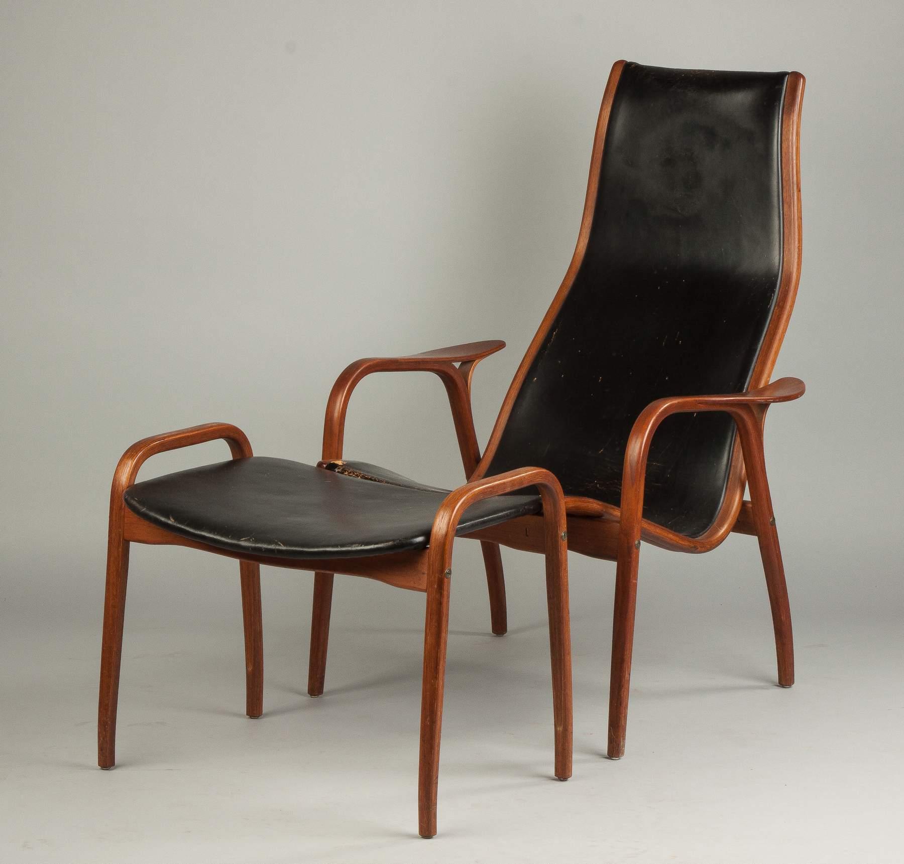 Yngve Ekström Lamino Chair And Ottoman For Swedese Mobler