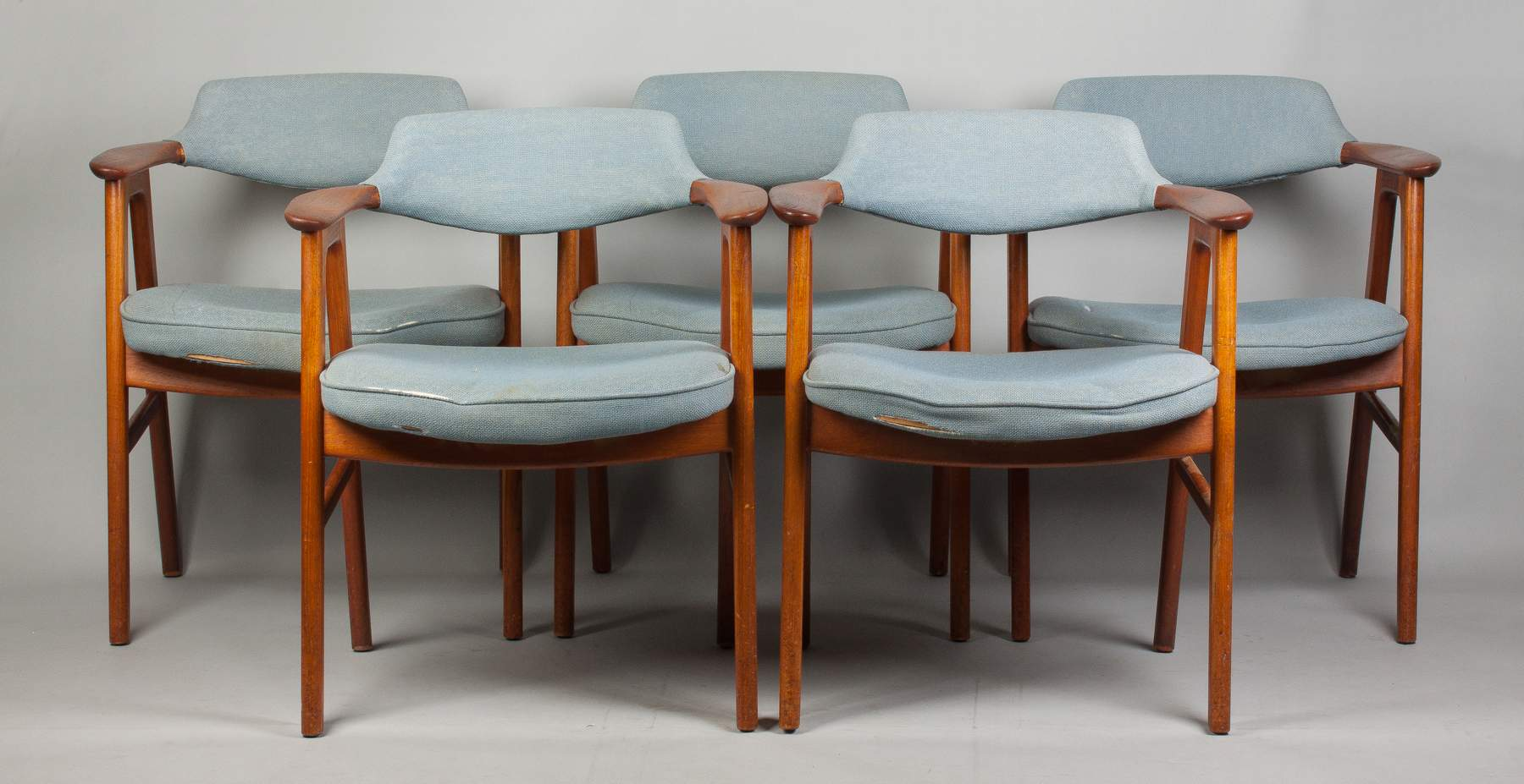 Set of Five Kirkegaard Dining Chairs for Illums Bolighus, Kobenhavn ...