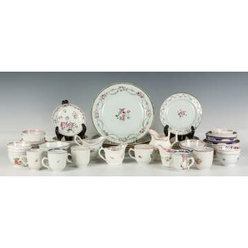 Group of Chinese Export Plates, Saucers, Cups, Creamers, etc