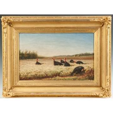 Newbold Hough Trotter (American, 1827-1898) Field with Turkeys