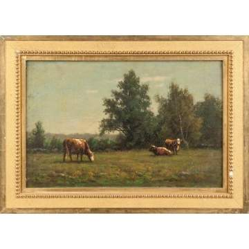 Painting of Cows in a pasture