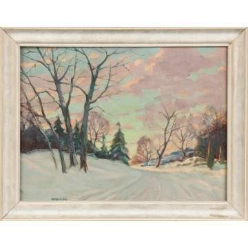 "Clifford McCormick Ulp (American, 1885-1957)  ""Winter Morning"""