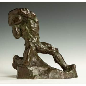 Ivan Meštrović (Croatian, 1883-1962) Male Figure with Boulder