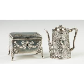 Silver Box & Tiffany Sterling Teapot