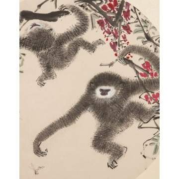 "Chen Wen Hsi (Chinese, 1906-1991) ""Gibbons"""