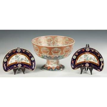 Imari Footed Punch Bowl