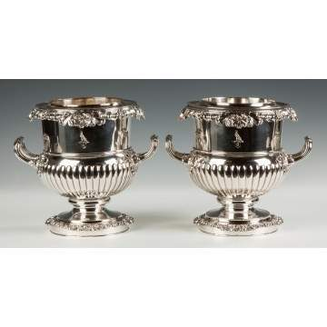 Pair of Georgian Sheffield Wine Coolers