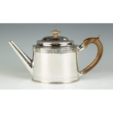 Hester Bateman, English Sterling Silver Teapot