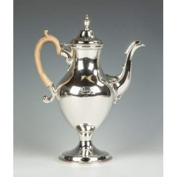Charles Houghton, English, Sterling Silver Coffee Pot