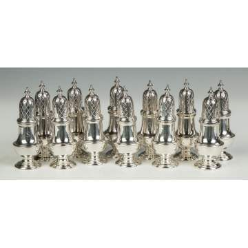 Set of 12 C.J. Vander George III Sterling Silver Castors
