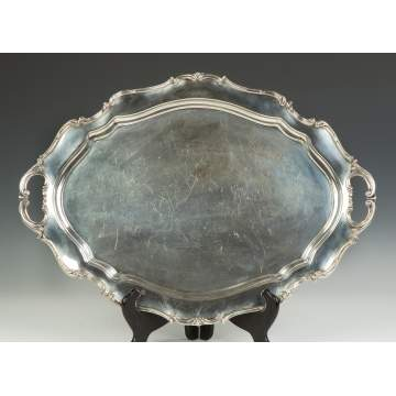 Reed & Barton Sterling Silver Tray - Hampton Court Pattern