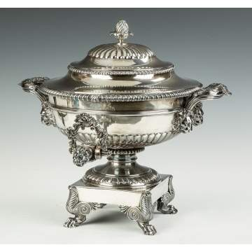 Fine Paul Storr (1771-1844) Sterling Silver Tea Urn
