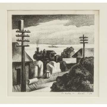 Thomas Hart Benton (American, 1889-1975) Locomotive