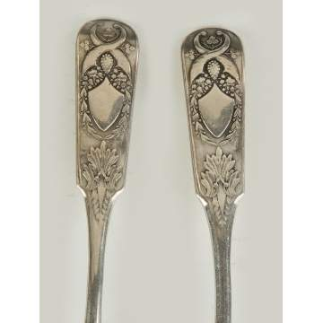Two Russian Sterling Silver Spoons