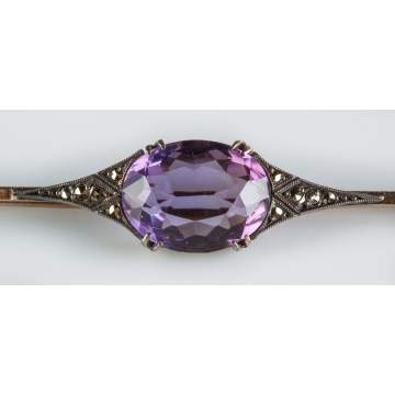 French Brooch with Amethyst