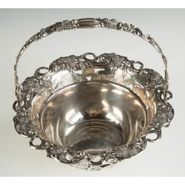 Tiffany & Co. Makers Sterling Silver Berry Basket