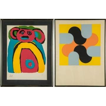 Karel Christiaan Appel (Dutch, 1921-2006) Lithograph & Michael Stokoe (Born 1933) Serigraph