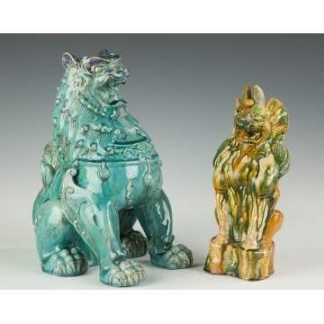 Chinese Guard Lion and Earth Spirit