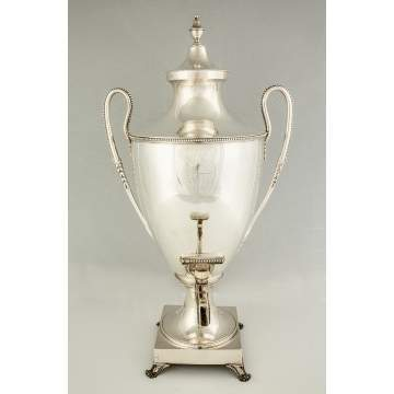 English Sterling Silver Hot Water Urn