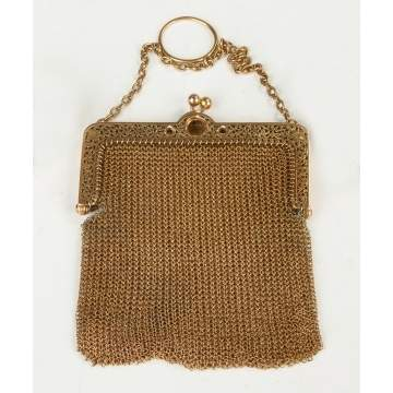 18K Gold Change Purse