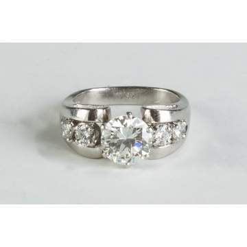 Ladies Platinum and Diamond Custom Made Ring
