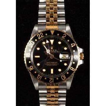 Rolex GMT-Master 18k & Steel Men's Wrist Watch