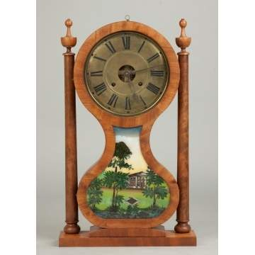 Joseph Ives Hourglass Shelf Clock, Plainville, CT