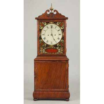 Rare David Studley Shelf Clock, Hanover, MA