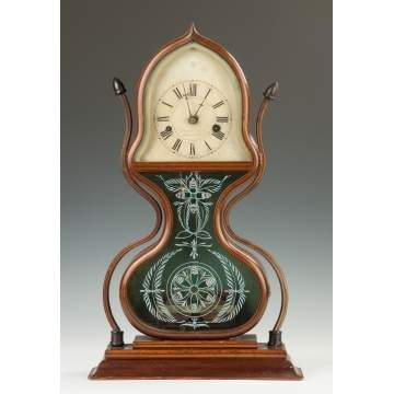J.C. Brown Acorn Shelf Clock, for Forestville, Bristol, CT