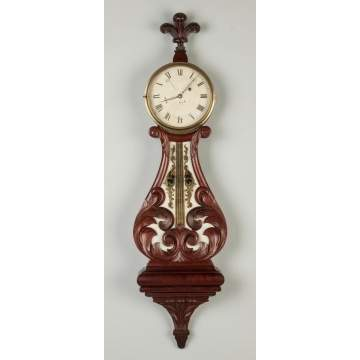 J. N. Dunning Lyre Banjo Clock, Concord, MA