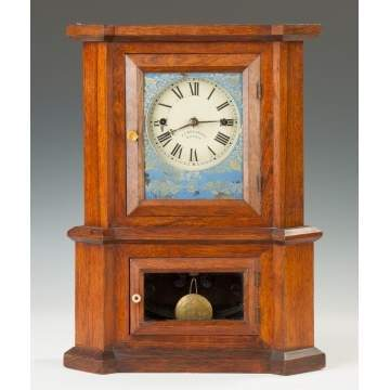 Atkins London Model Shelf Clock sold by J. J. Beals and Co., Boston, MA