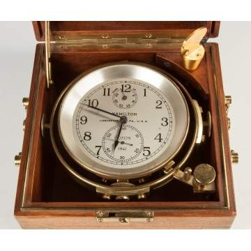 Hamilton Watch Co. Ship's Chronometer, Model 21, Lancaster, PA