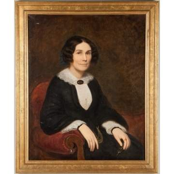 Portrait of a Seated Lady with Reading Glasses