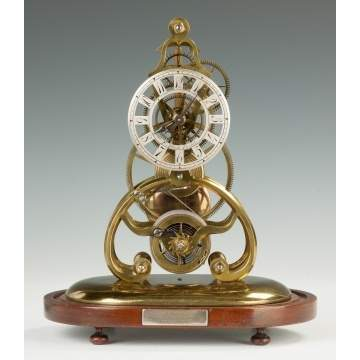 Francis Abbott (Derby, England, 1799-1883) Skeleton Clock