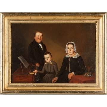 William Vester (Dutch, 1824-1871) Portrait of a Family seated at Piano Forte