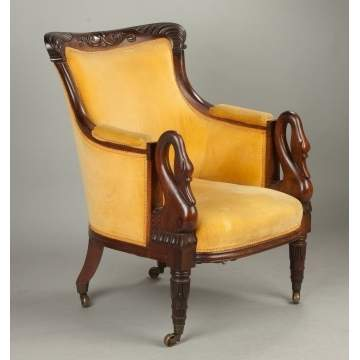 Carved Rosewood Armchair