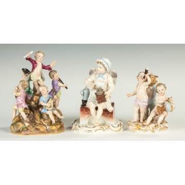 Meissen Figural Group of Children with Science and Astronomy