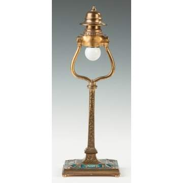 Tiffany & Co. Bronze and Enameled Lamp Base