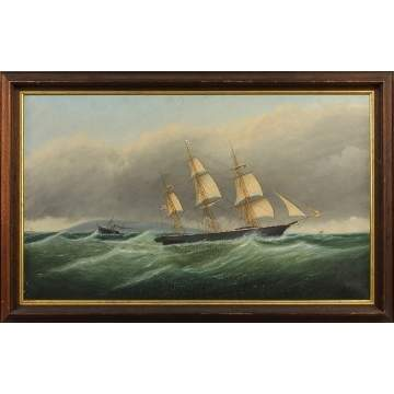 Attr. to Clement Drew (American, 1806-1889) American Clipper Ship