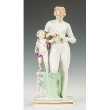 Meissen Venus with Cupid