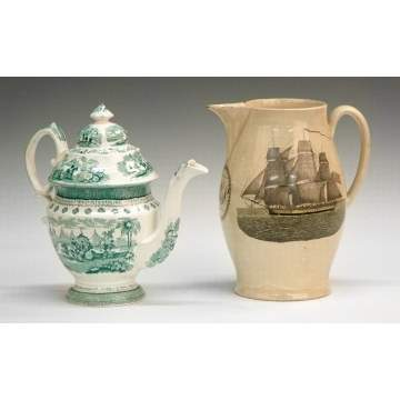 Adams Tea Pot & Liverpool Jug