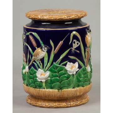 Majolica Garden Seat, Probably George Jones