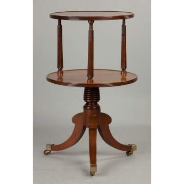English George III Mahogany Two-Tiered Dumbwaiter