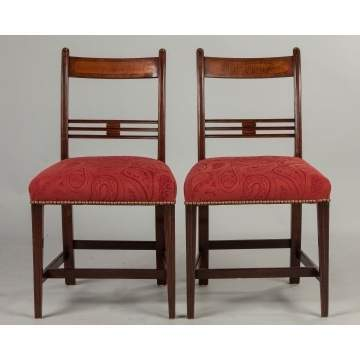 New England Federal Mahogany Side Chairs